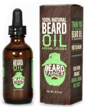 Beard Oil by Beard Farmer - All Natural Conditioner for Beard Growth, Unscented Organic Argan Oil and Jojoba Oil 2 Oz.