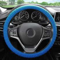 FH Group FH3002DARKBLUE Dark Blue Steering Wheel Cover (Silicone W. Nibs & Pattern Massaging grip Wheel Cover Blue Color-Fit Most Car Truck Suv or Van)