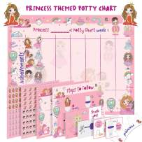 Potty Training Chart for Toddlers – Princess Design - Sticker Chart, 4 Week Reward Chart, Certificate, Instruction Booklet and More – for Girls