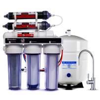 LiquaGen - Dual 6 Stage Under Sink Reverse Osmosis Drinking & Aquarium Deionization (RO/DI) Water Filter System (Universal pH Alkaline 100 GPD)
