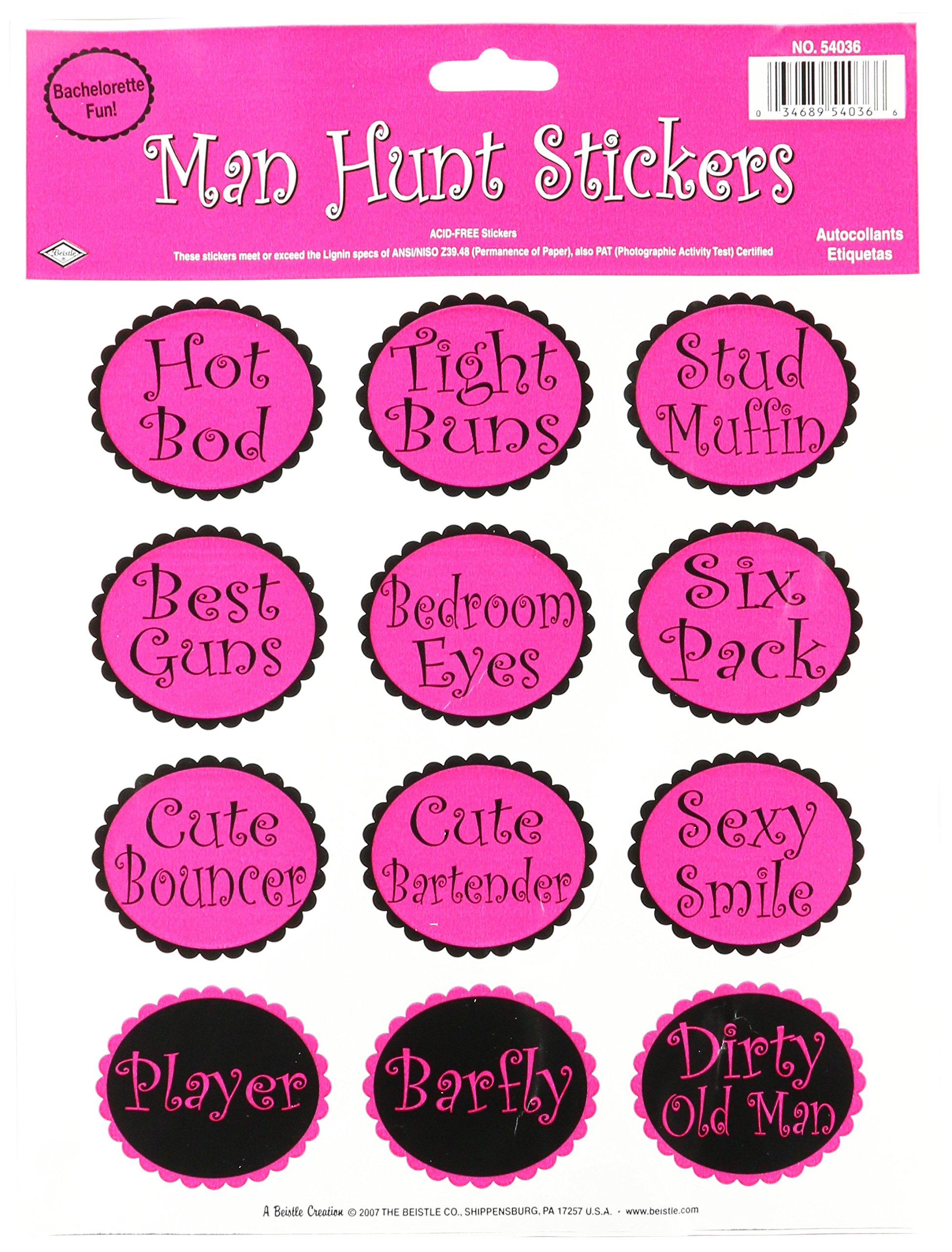 "Beistle 54036 Party Supplies, 9"" x 12"" Sh, Cerise/Black"