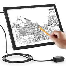 A4 Tracing Light Box, Portable LED Tracing Light Pad for Painting, Drawing & Art Supplies, Ultra-Thin, Adjustable, Scale, Type-C with 5V 1A Adapter