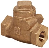 "Milwaukee Valve UP509 Series Bronze Swing Check Valve, Potable Water Service, 1/4"" NPT Female"