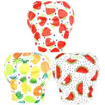 Wegreeco Baby & Toddler Snap One Size Adjustable Reusable Baby Swim Diaper (Fruits, Large, 3 Pack)