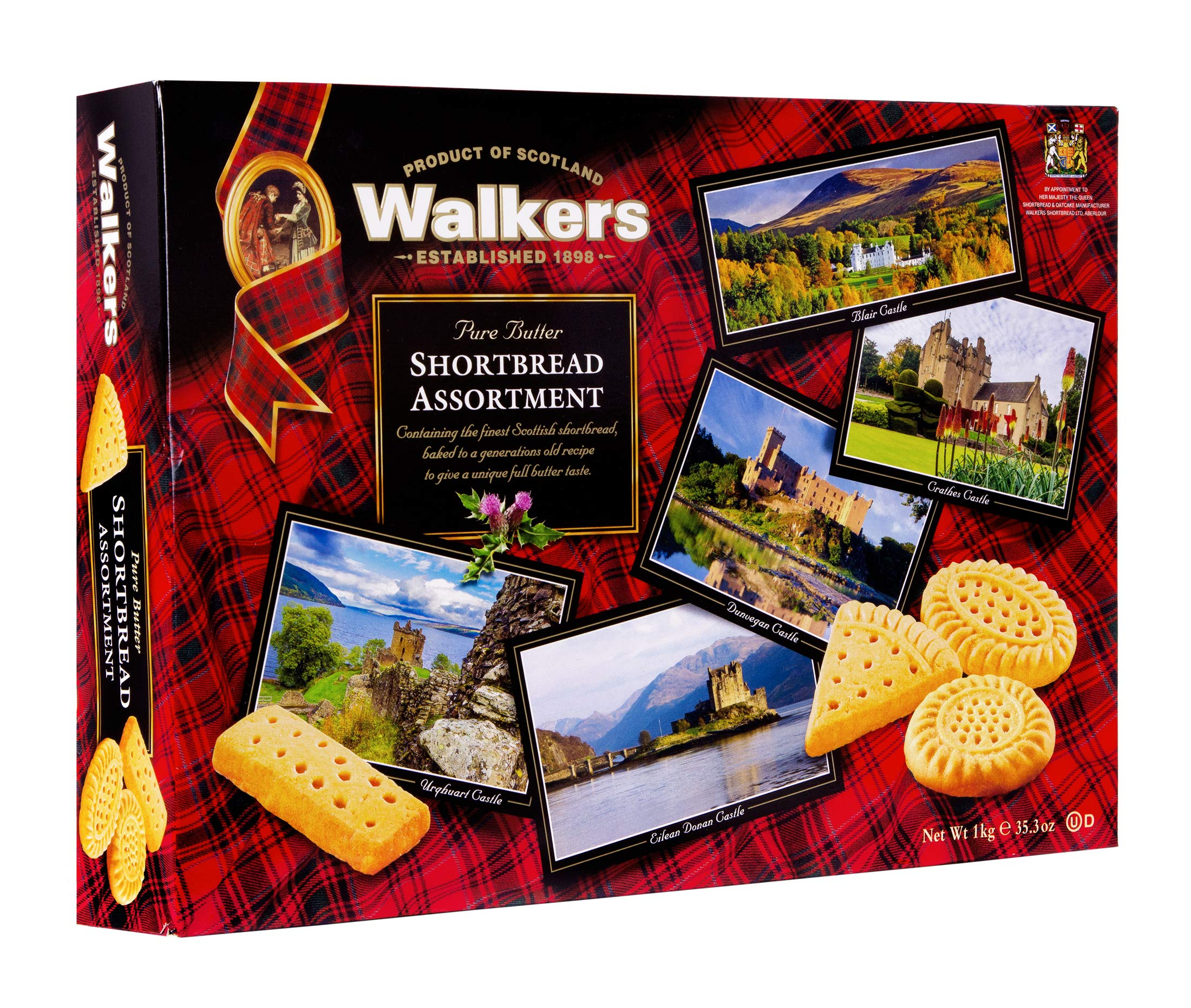 Walkers Shortbread Assorted Shortbread Cookies, 35.3 Ounce Box