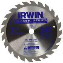 IRWIN Tools Classic Series Steel Corded Circular Saw Blade, 7 1/4-inch, 24T (15130)