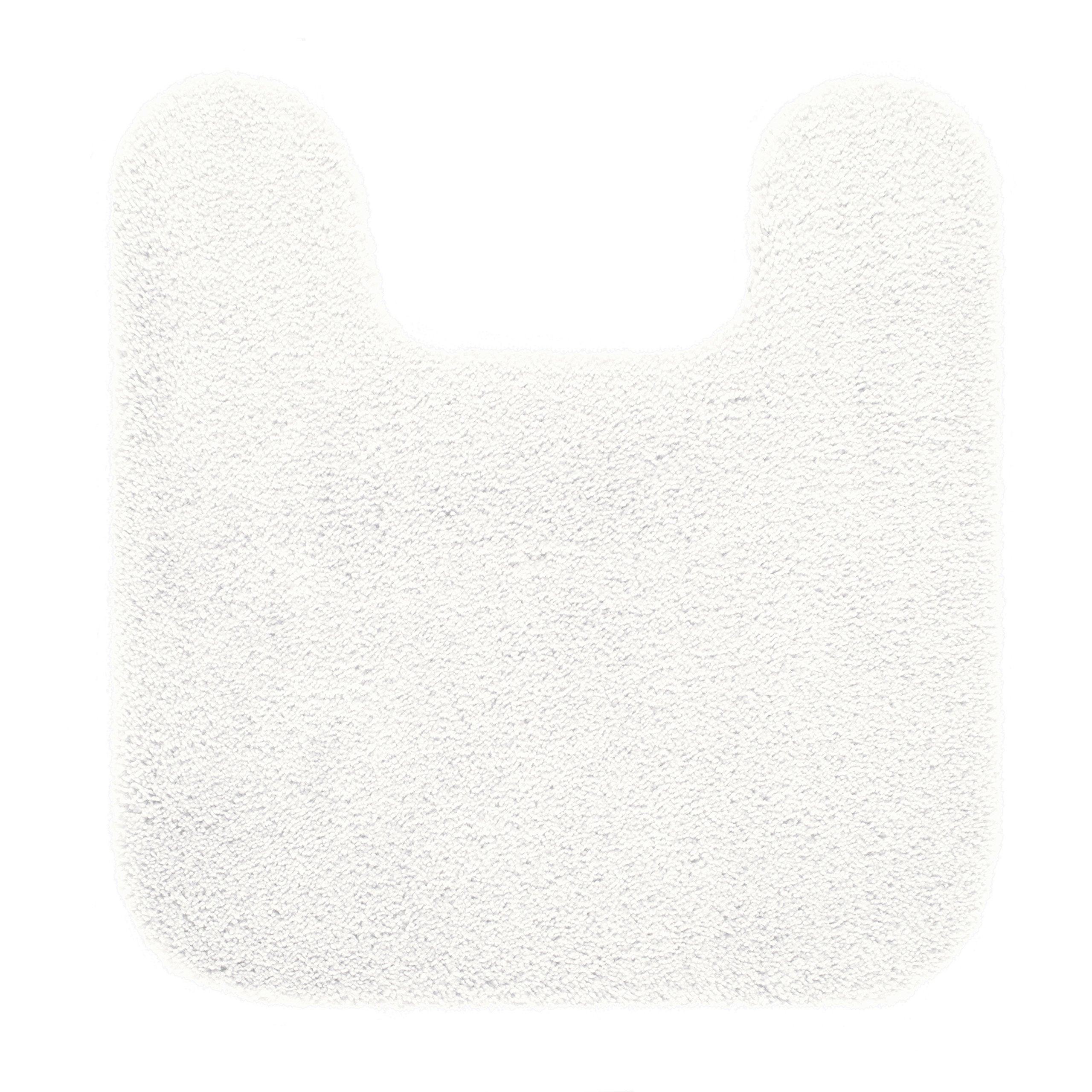 "Maples Rugs Cloud Bath 20"" x 21.5"" Contour Non Slip Toilet Rug [Made in USA] Machine Washable Soft Bath Mat, Arctic White"