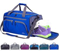 """Venture Pal 20"""" Packable Sports Gym Bag with Wet Pocket & Shoes Compartment Travel Duffel Bag for men and Women-Royal Blue"""