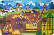Constructive Eating Worksite Placemat for Toddlers, Infants, Babies and Kids - Placemat Toy is Made in The USA Using Materials Tested for Safety