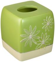 Popular Bath Tissue Box, Daisy Stitch Collection, Lime