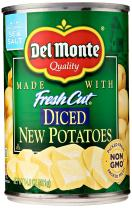 Del Monte Canned Fresh Cut Diced New Potatoes, 14.5-Ounce Can