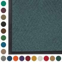 WaterHog Diamond-Pattern Commercial Grade Entrance Mat, Indoor/Outdoor Floor Mat 3' Length x 2' Width, Bluestone by M+A Matting