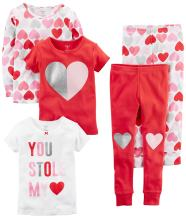Carter's Baby-Girl 5-Piece Cotton Snug-fit Pajamas