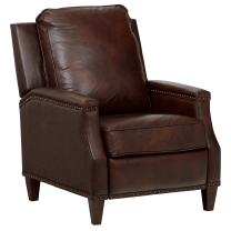 """Stone & Beam Marin Studded Leather Recliner, 30""""W, Driftwood"""