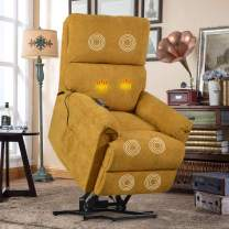 Lift Chair for Elderly with Massage & Heat, Heavy Duty Lift Chairs Electric Recliner Chairs with Remote Control Soft Fabric Lounge