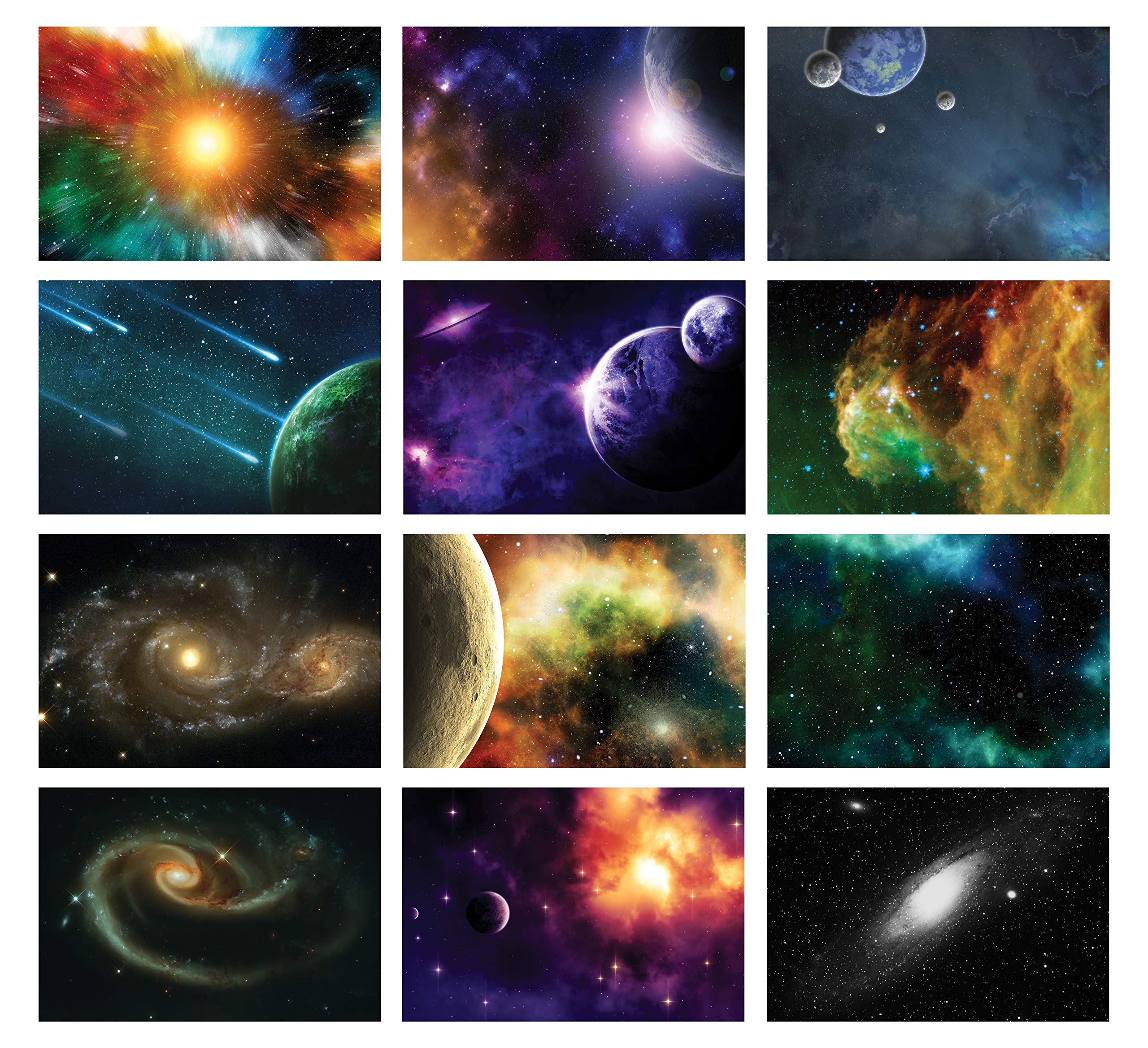 Galaxy Postcards Series 2 (36-Pack)- Assorted Card Stock Bulk Set – Premium Quality Cards – Stocking Stuffers Gift for Men, Women, Teens, Adults