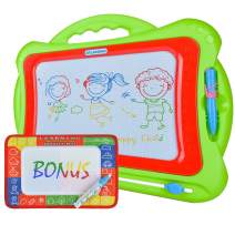 Magnetic Drawing Board for Kids and Toddlers | Size 13'' x 16'' w/ Large Drawing Area | Colorful Erasable Magic Pad | Toy for Travel or Home w/ Bonus Magic Mat