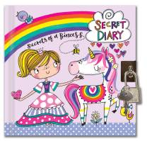 Jewelkeeper Rachel Ellen Designs Girl's Unicorn Princess, Secret Diary, Rainbow Journal, Lock and Key Included