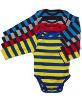 Leveret Baby Onesie Boys Girls 4-Pack Striped & Solid Baby Bodysuit Underwear 100% Cotton (3-24 Months)