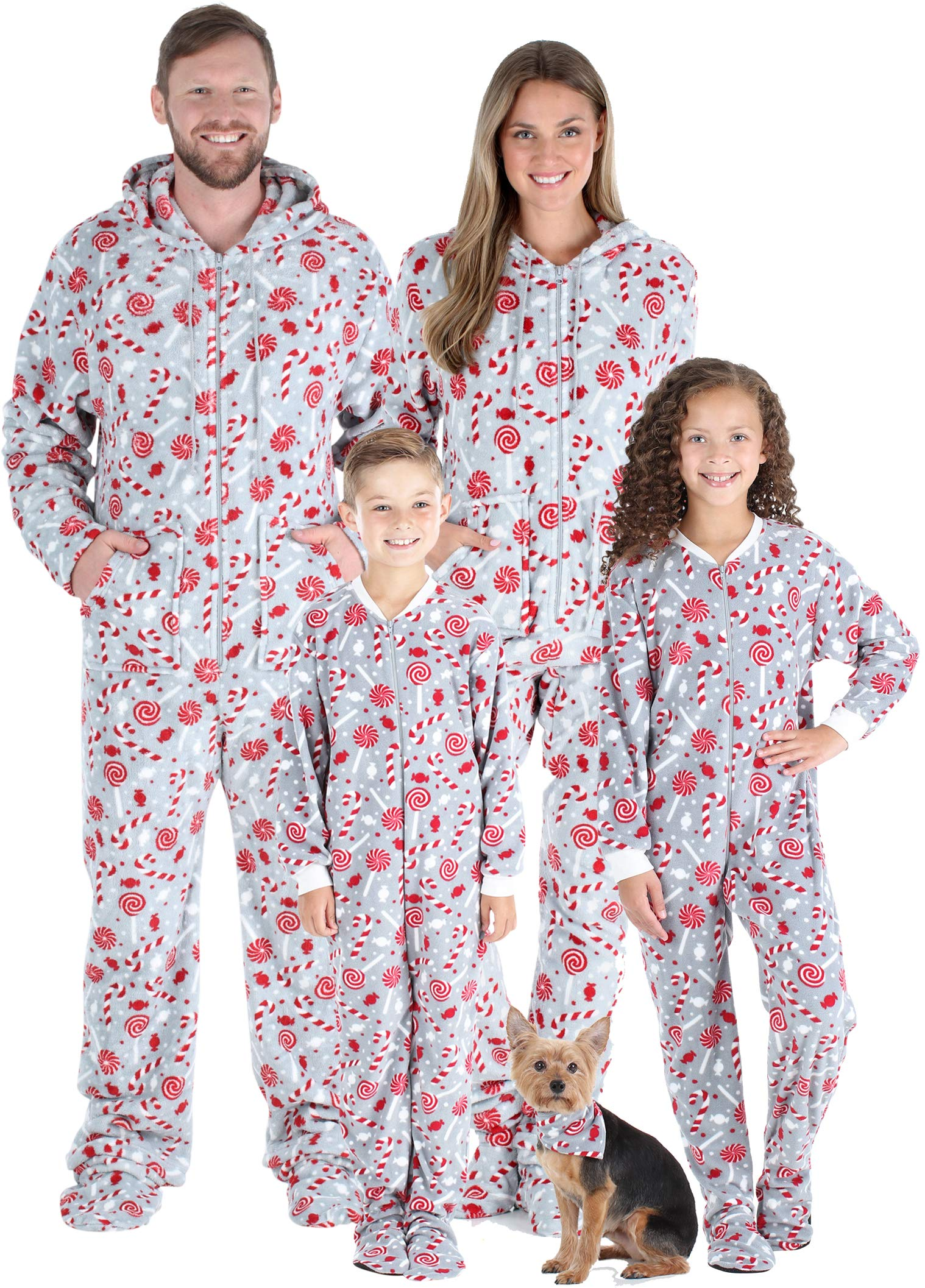 SleepytimePJs Matching Family Christmas Pajama Sets, Snowflake Footed Onesies