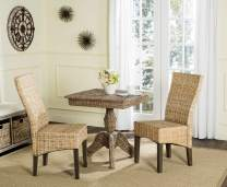 Safavieh Home Collection Ozias Grey Wicker 18-inch Dining Chair