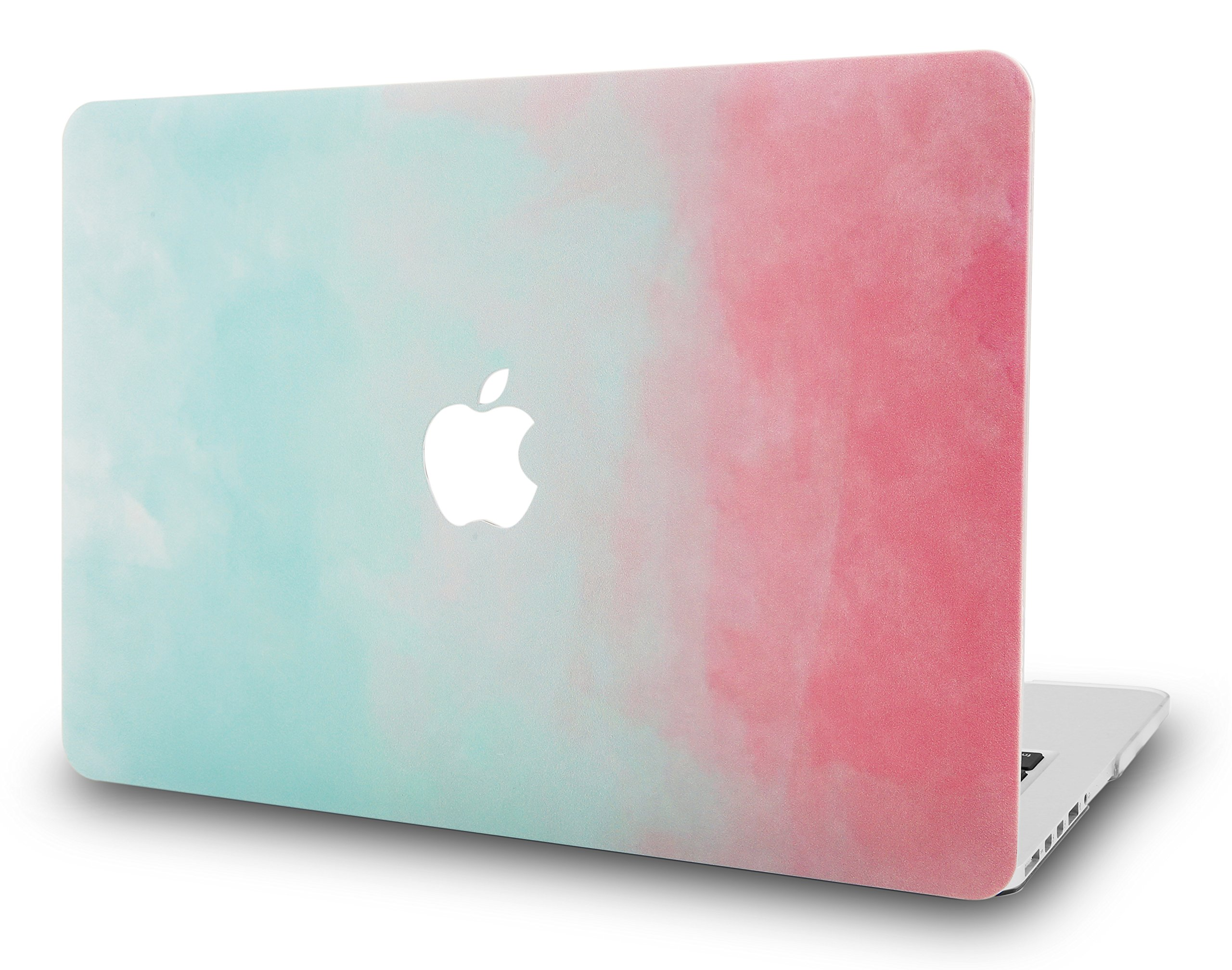 """KECC Laptop Case for Old MacBook Pro 13"""" (CD Drive) Plastic Case Hard Shell Cover A1278 (Green Red)"""