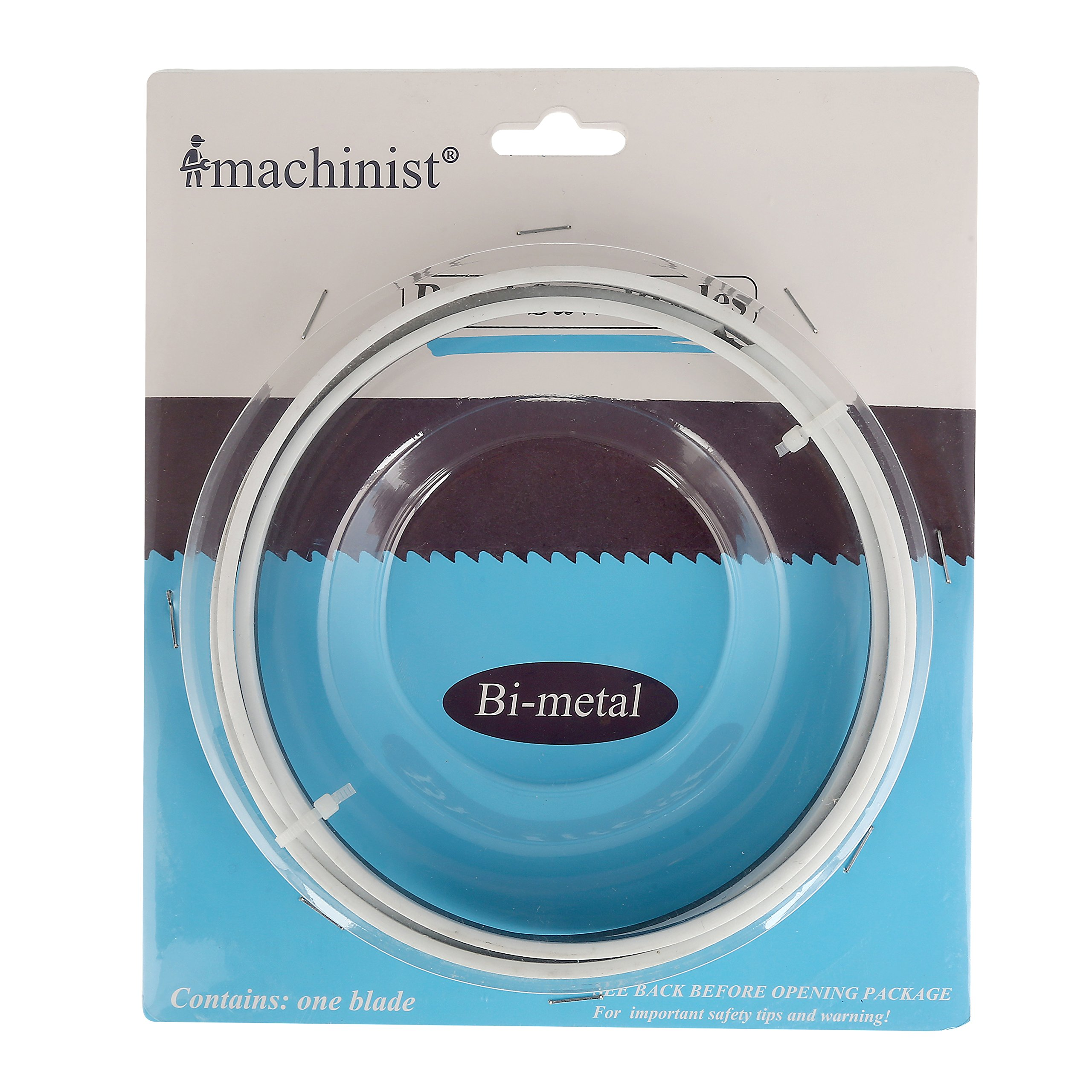 """Imachinist 56-1/2"""" Long, 1/2"""" Wide, 0.025"""" Thick M42 Bi-metal Bandsaw Blades for Soft Metal Cutting (6TPI)"""