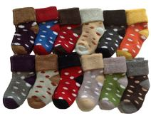 Lian LifeStyle 4 Pairs Children Viscose Dotted Crew Socks Random Color