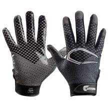 Cutters Game Day Football Glove, Receiver Gloves, Ultra Sticky Grip, Youth & Adult Sizes (1 Pair)