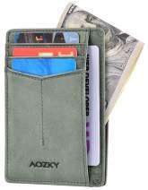 Mens Wallet RFID Blocking Slim Front Pocket Minimalist Leather Card Holder