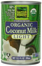 Native Forest Organic Light Coconut Milk, Reduced Fat, 13.5 Ounce