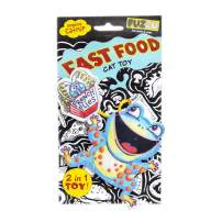 FUZZU Fast Food Cat Toy with U.S. Grown Certified Organic Catnip – Frog and French Flies