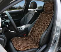 EXCEL LIFE Natural Wood Beaded Seat Cover Massaging Cool Cushion for Car Truck. Keeps The Back From Getting Sweaty While Driving. Makes Driving More Bearable And Less Painful On Long Trips