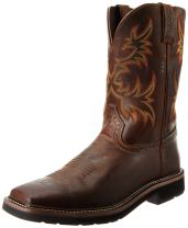 Justin Original Work Boots Men's Stampede Pull-On Square Toe Work Boot