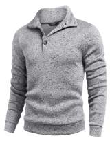 COOFANDY Men Casual Knit Pullover Sweatshirt Slim Fit Thermal Fashion Sweater