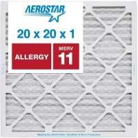 20x20x1 AC and Furnace Air Filter by Aerostar - MERV 11, Box of 12