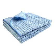 """Kitchen Kleen Kitchen Towels - 50% Microfiber/50% Cotton Cleaning Towels - Use Wet or Dry - Cleans Without Soap - Dish Drying Towel - Use Damp on Sinks and Stovetops - 16"""" x 16"""" - 4 Pack"""