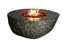 Elementi Concrete Fiery Rock Fire Pit - Natural Gas