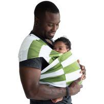 Baby K'tan Print Baby Wrap Carrier, Infant and Child Sling-Olive Stripe, Women up to 0 (XX-Small). Newborn up to 35 Pound Best for Babywearing.