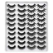 Calphdiar 20 Pairs False Eyelashes 16MM-19MM Mixed Thick Volume Fake Lashes 4 Variety Styles Multipack Wholesale Bulk Lash Pack
