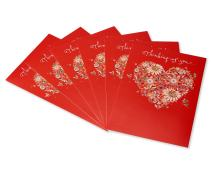American Greetings Valentine's Day Cards with Envelopes, Thinking of You (6-Count)