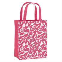 Illumen Fabric Gift Bags and Reusable Gift Bags, Free Greeting Cards, 5 Pack, Handmade, Eco Friendly Tote Bags, 11 Patterns, Medium Size (7.75 x 9.5 x 3.75 inches)