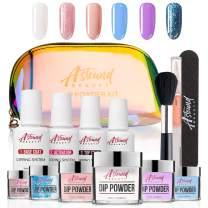 Dip Powder Nail Kit - 6 Color Nail Dipping Powder Kit - Nail Dip Powder All-in-One Travel kit