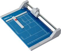 """Dahle 550 Professional Rolling Trimmer, 14-1/8"""" Cut Length, 20 Sheet Capacity, Self-Sharpening, Automatic Clamp, German Engineered Paper Cutter"""