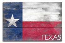 Lantern Press Rustic Texas State Flag 52457 (6x9 Aluminum Wall Sign, Wall Decor Ready to Hang)