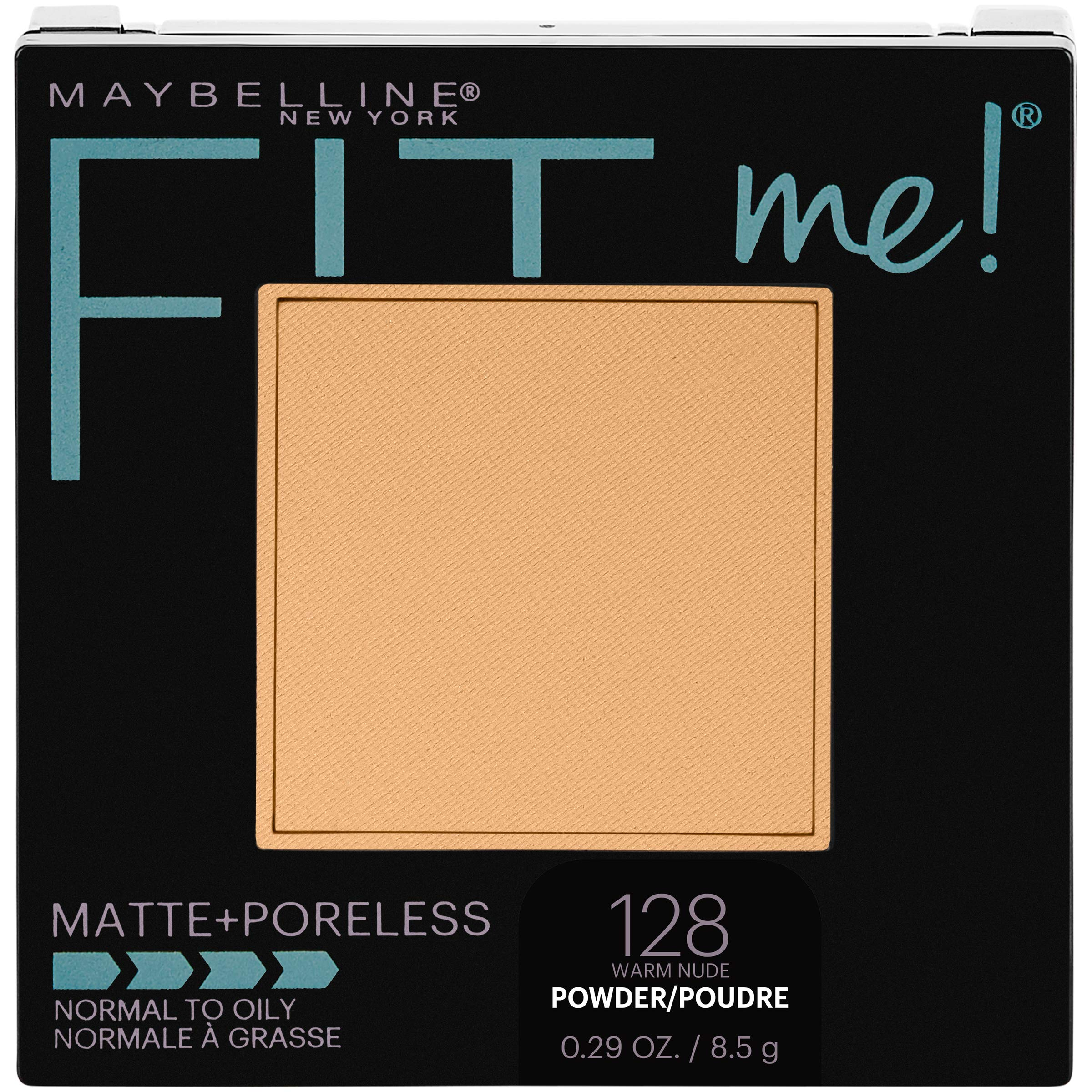 Maybelline New York Fit Me Matte + Poreless Pressed Face Powder Makeup, Warm Nude, 0.28 Ounce, Pack of 1