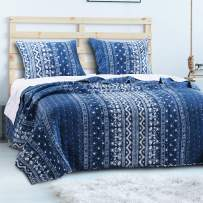 Barefoot Bungalow Embry 2 Piece Quilt Set, Twin, Indigo