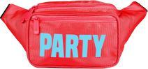 SoJourner Red Party Fanny Pack - Neon Packs for men, women   Cute Waist Bag Fashion Belt Bags rave festival