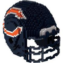 FOCO NFL Unisex-Child 3D BRXLZ Building Blocks - Helmet