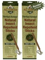 All Terrain DEET-Free Herbal Armor Insect Repellent Sticks (Pack of 2), 2 Pack